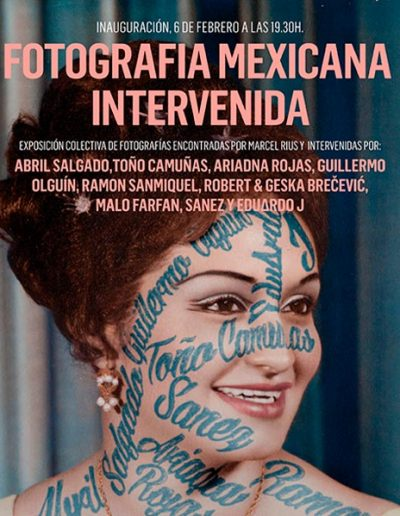 Cartel Foto Mexicana Intervenida